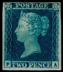 SG15, 2d deep full blue, NH MINT. Cat £8500+ PA