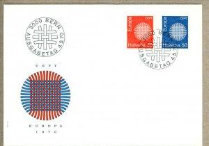 Switzerland FDC Scott 513-516 Europa 1970      (Inv 001536.)