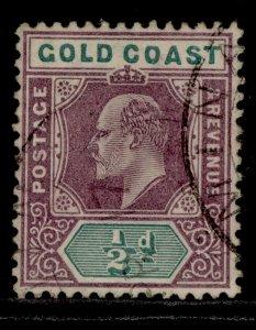 GOLD COAST EDVII SG38, ½d dull purple & green, FINE USED.