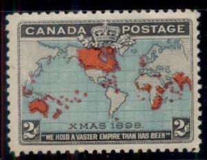 CANADA #86, 2¢ Map, og, NH, VF, Scott $100.00