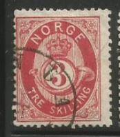 Norway Scott #18 Stamp - Used Single