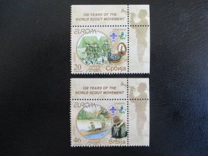 Serbia #384-85 Mint Never Hinged (M3J8) WDWPhilatelic