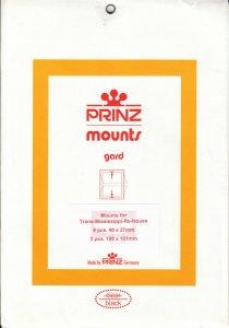 PRINZ TRANS MISSISSIPPI (11) BLACK MOUNTS RETAIL PRICE $6.00