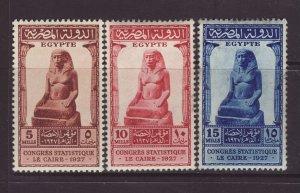 1927 Egypt Congress Set Mounted Mint SG173/175