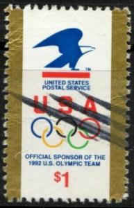 US Stamp #2539  - Eagle and Olympic Riings Single