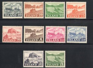 1950 Iceland,Island,Activity National,10 Val N° 224-233 MNH