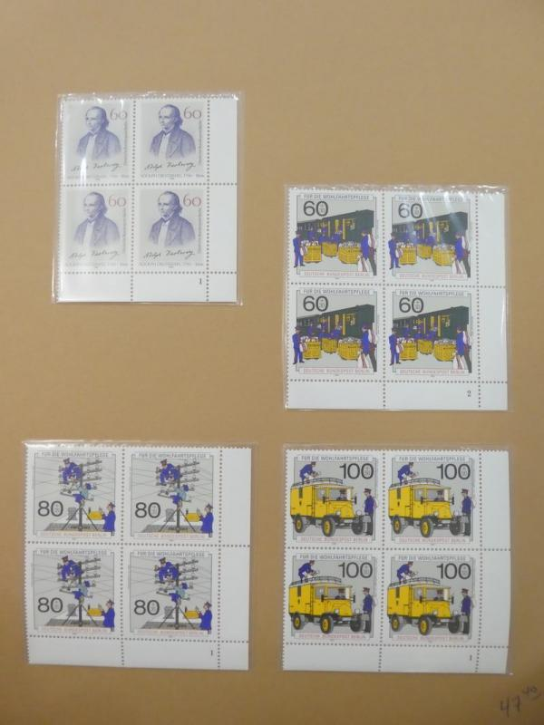 EDW1949SELL : GERMANY Beautiful collection of VFMNH Blks of 4. Scott Cat $1,557.