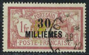 French Offices Abroad Scott Port Said 66 Used.