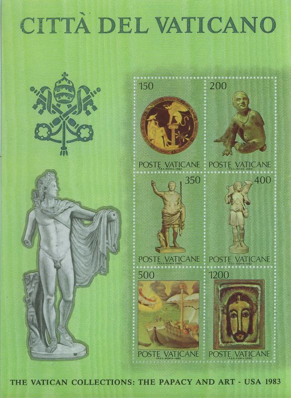 Vatican MNH S/S 720 Papacy & Art III 1983