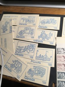 Canada -1972 50c Tagged Booklets Set of 10 Diff. Covers #BK71d Cat. $40. F-VFNH
