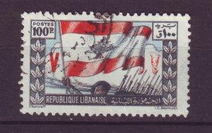 J24007 JLstamps 1946 lebanon hv of set used #188 flag
