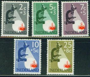 Netherlands Scott B281-5 complete MH* set CV$13