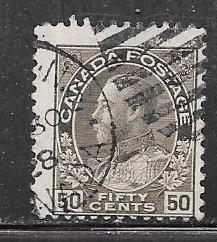 Canada #120  50c  King George V  (U) CV $3.75