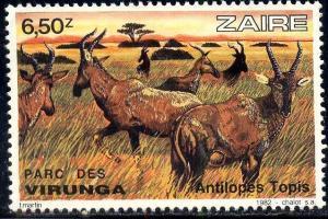 Antelope from Virunga National Park, Zaire SC#1081 MNH
