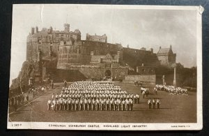 1910s Portland England Real Picture Postcard Cover To Devon Highland Infantry