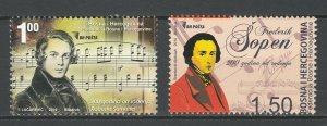 Bosnia and Herzegovina 2010 Music Famous People Fryderyk Chopin MNH stamp