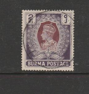Burma 1938/40 2Rs Used SG 31