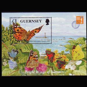 GUERNSEY 1997 - Scott# 590 S/S Butterfly NH