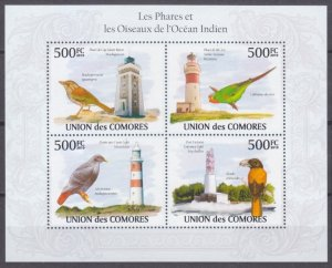 2009 Comoro Islands 2705-2708KL Birds 9,00 €