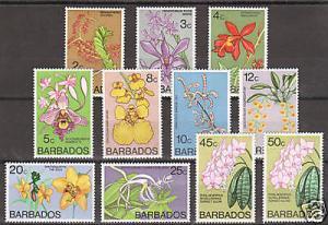 Barbados Sc 397/407 MNH. 1974-77 Flowers, 11 diff. VF