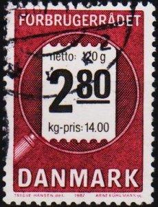 Denmark.1987 2k80 S.G.842 Fine Used