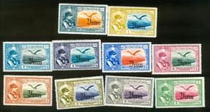 IRAN Persia MNH 1935 Bird airmail  set