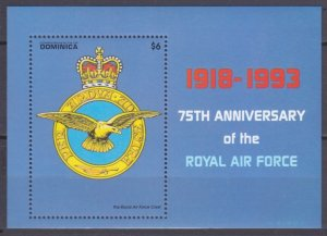 1993 Dominica 1696/B236 Airplane - Emblem 8,00 €