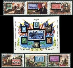 Africa Upper Volta Burkina Faso Sc#352-7 358 Sheet 1975 Complete Stamp On Stamp