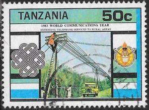 Tanzania 229 Used - World Communications Year - Rural Telephone Service