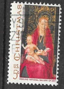 USA 1336: 5c Madonna and Child by Hans Memling, used, VF