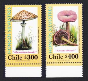 Chile Fungi 2v with Bottom margins SG#2001-2002 MI#2024-2025 SC#1368-1369