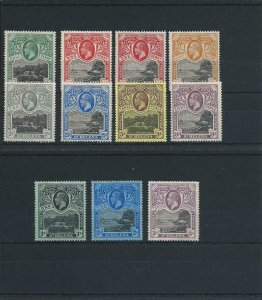 ST HELENA 1912-16 SET OF TEN WITH 1d SHADE MM SG 72/81 CAT £150