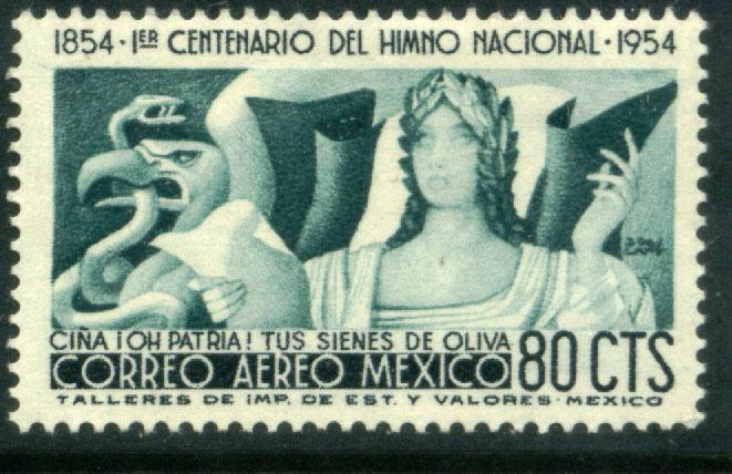 MEXICO C226, 80c Centennial of National Anthem. MINT, NH. F-VF.