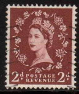GB Scott 356 - SG573, 1958 Crowns 2d Wilding, used