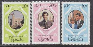 Uganda 314-316 Royal Wedding MNH VF