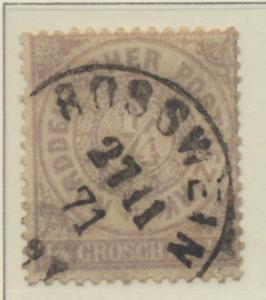 North German Confederation Stamp Scott #13, Used - Free U.S. Shipping, Free W...