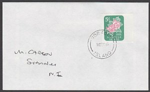 NORFOLK IS 1995 cover 5c local rate with 5c booklet stamp...................A742