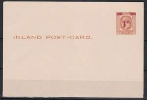 NZS12) New Zealand Postal cards KGV 1923 surcharges 1d Red on 1½d Yellow-brown