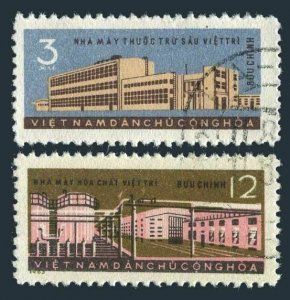Viet Nam 261-262 two sets, CTO. Mi 268-269. 5-year Plan, 1963. Chemical industry