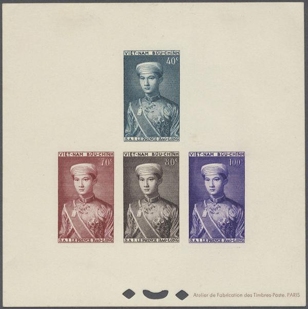 Vietnam Stamps - 1954 - The Crown Prince Bao Long - Deluxe Sheet - RARE!!!