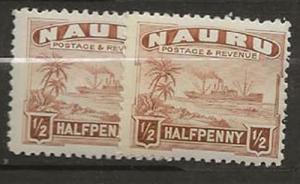 Nickel Auction. Nauru 17b 2 vls. m [aa38]