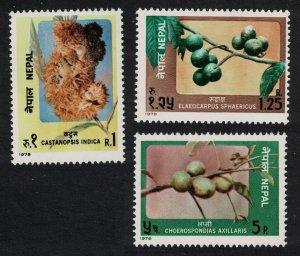 Nepal Fruits 3v 1978 MNH SG#368-370