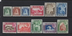 ADEN -SEIYUN- SCOTT #1-11 1942 PICTORIALS  -MINT LIGHT HINGED