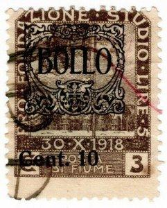(I.B) Italy Revenue : Fiume Duty 10c on 3c OP
