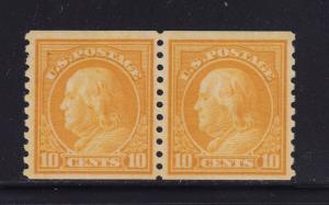 497 Pair VF+ mint OG lightly hinged nice color cv $ 40 ! see pic !