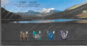 GB -Wales #13-16 Royal Mail Definitive Stamps  (MNH) CV $14.20