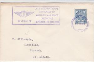eire ireland 1964 int. congress of aviation space medicine stamps cover ref20331