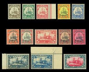 German Colonies - SAMOA 1900  Kaiser's YACHT set  Scott # 57-69  mint MNH**