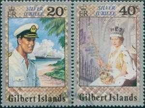 Gilbert Islands 1977 SG49-50 Silver Jubilee FU