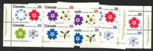 Canada - 1970 25c Expo Imprint Blocks mint #511a